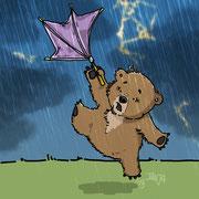 Kleiner Bär im Sturm