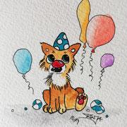 Inktober Tag Nummer 16 - Clown Cat