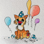 Inktober Tag Nummer 16 - Clown Cat