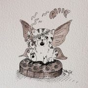 Inktober Tag Nummer 10 - Fairy Cat