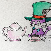 Inktober Tag Nummer 22 - Tea Cat