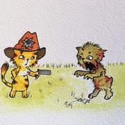 Inktober Tag Nummer 18 - Zombie Cat