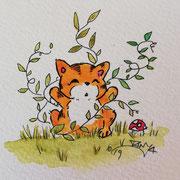Inktober Tag Nummer 20 - Nature Cat