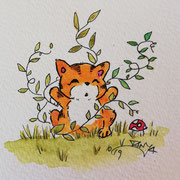 Inktober Tag Nummer 20 - Nature Cat