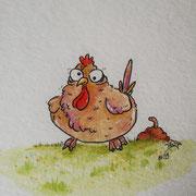 ein verrücktes Huhn