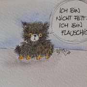 Inktober Tag Nummer 29 - Fluffy Cat
