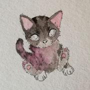 Skizze einer kleinen Katze