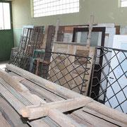 Einblick in die Halle Teil 11 historische Baustoffe