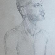 Barisch, Bleistift auf Papier, 2018, 60 cm x 42 cm