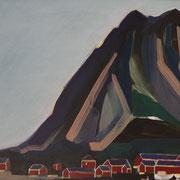 Norwegen I,  2018, Acryl auf Karton, 35 cm x 40 cm