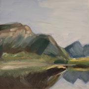 Norwegen VIII, 2018, Acryl auf Leinwand, 40 cm x 40 cm