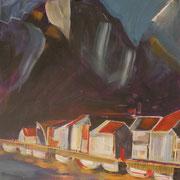 Norwegen VII, 2018, Acryl auf Leinwand, 40 cm x 40 cm