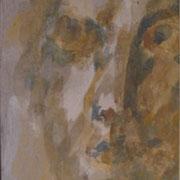 Schattengesicht - Aquarell auf Papier; ca. 15 cm x 20 cm