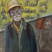 Rüdiger, Öl auf Leinwand, 80 cm x 80 cm x 4 cm