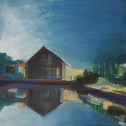 Norwegen VI,  2018, Acryl auf Leinwand, 40 cm x 40 cm