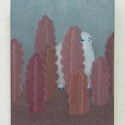 「おずおず うかがう」2017/キャンバス、油絵具/F20