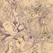 Evolution of Dream - Sketch - Copyright 2006 by Johan Palacio