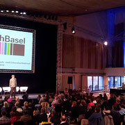 """""""GrenzgängerSlam des Kulturpavillons"""" an der Buch Basel im Theater Basel"""