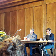 Lesung an der Buch Basel, hier mit Marc Krebs 2017