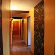 Couloir des chambres d'hôtes