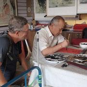 Une leçon de calligraphie en Chine
