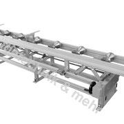 Material Auflagebahn mit Höheneinstellung über Handrad mit Getriebe / dig Anzeige