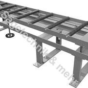 Material Auflagebahn mit  Höheneinstellung über Handrad