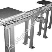 Material Auflagebahn mit Abschiebeblechen, Tragkraft 1000 kg/meter