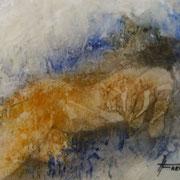 """ART HFrei - """"Seitlich liegender Akt""""- Pastell-Mischtechnik - 2007"""