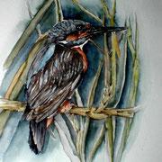 """ART HFrei - """"Eisvogel"""" - Aquarell - 2005"""