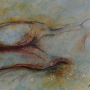 """ART HFrei - """"Liegender Akt"""" - Pastell-Mischtechnik - 2012"""
