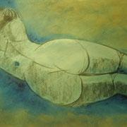 """ART HFrei - """"Liegender Rückenakt"""" - Pastell-Mischtechnik - 2009"""