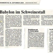 Rheinische Post vom 16. September 2004