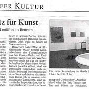Westdeutsche Zeitung vom 09. Juli 2004