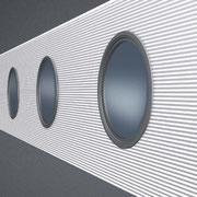 Isopaneel mit runden Fenstereinsätzen