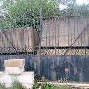 Portail fer forgé ancien (n° 41)   500L x 300HT