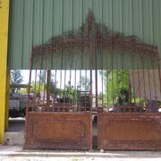 portail ancien fer forgé (n° 11)      400L X 320/450HT
