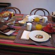 Petit-déjeuner à l'intérieur