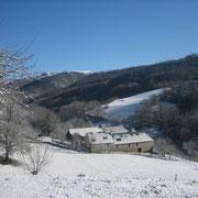 Domaine de la Rousselie sous la neige