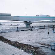 羽田地区暫定桟橋の様子 8日07:30頃