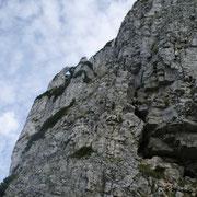 Kein Wunder, dass 1920 ein Teil des Berges eingestürzt ist (dieser Wandteil ist nicht Teil des Reinlweges)