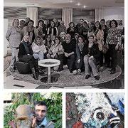 """Viele Schweizer Künstler/Innen haben Farbtubenreste gesammelt, sogenannte """"Buntlinge"""". Vom Glattparkler Künstler Memo Miftarin wurden diese dann zu einer Collage verarbeitet."""