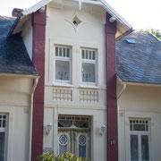 restaurierte Häuserfront