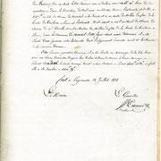 Procès verbal de délimitation de la commune en 1818 page 14