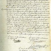 Procès verbal de délimitation de la commune en 1818 page 4