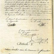 Procès verbal de délimitation de la commune en 1818 page 3