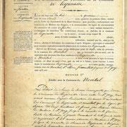 Procès verbal de délimitation de la commune en 1818 page 2