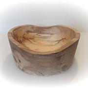 Schale aus gemasertem Rotbuchenholz