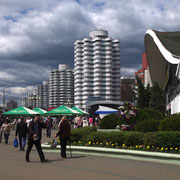 Les immeubles du quartier du marché