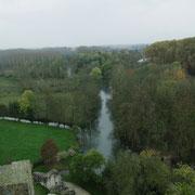 Vue sur le parc du haut de la Tour Charles VII